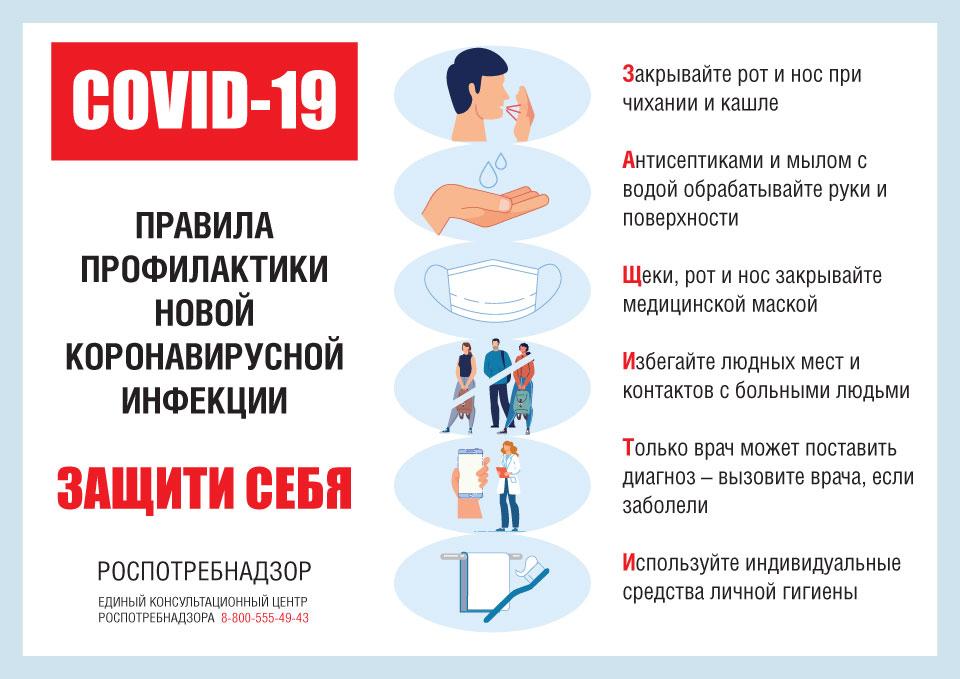 Рекомендации по профилактике новой коронавирусной инфекции