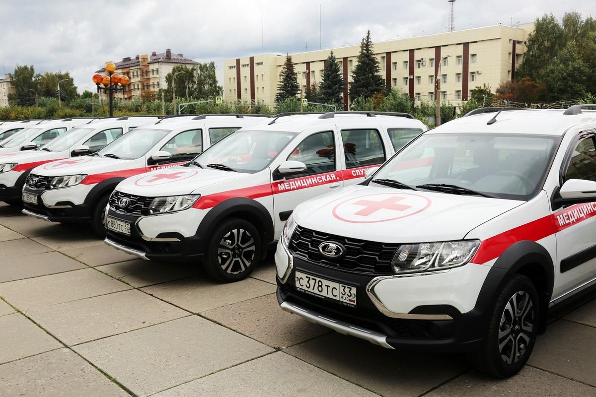 Более полусотни новых автомобилей получили районные и городские учреждения здравоохранения Владимирской области