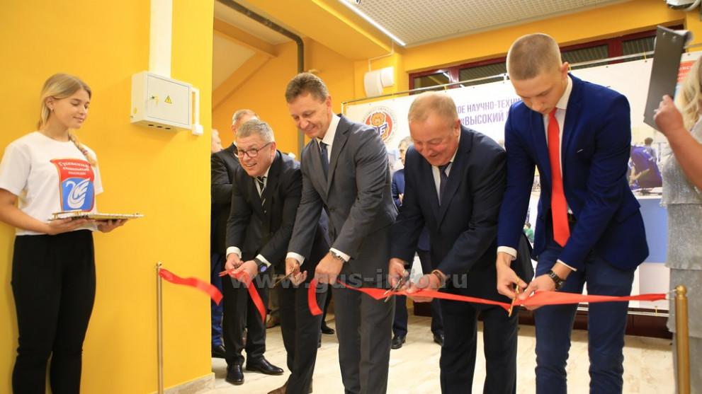 В Гусевском стекольном колледже прошло торжественное открытие новых мастерских